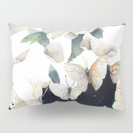 Peony and Butterflies Surreal Painting Pillow Sham