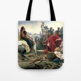 Vercingetorix Throws Down His Arms At The Feet Of Julius Caesar Tote Bag