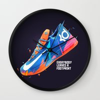 nike Wall Clocks featuring NIKE ZOOM by Ian Quijano