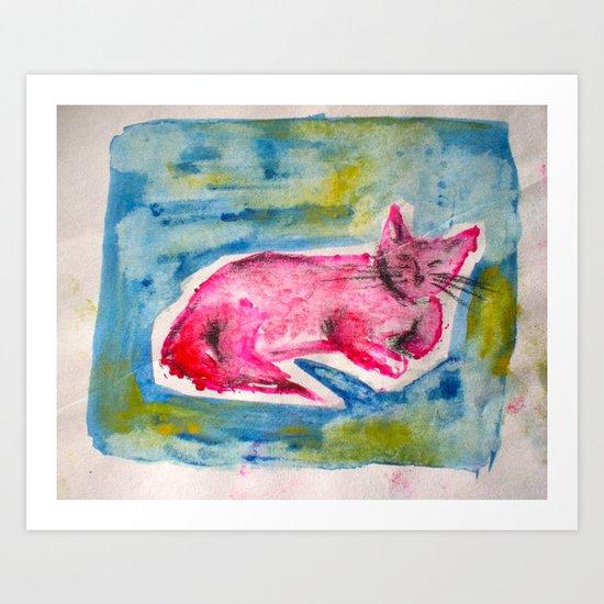 """""""Cat Nap"""" Art Print"""