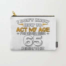 Funny Birthday Gift 65 Years Sixty Born in 1953 Carry-All Pouch