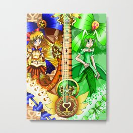 Sailor Mew Guitar #24 - Sailor Venus & Mew Retasu Metal Print