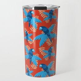 Blue Bird Summer Pattern Travel Mug