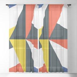 Mid Century Primary 02 Sheer Curtain
