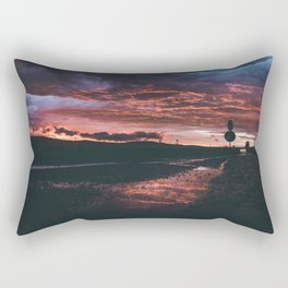 Sunset After Rain Rectangular Pillow