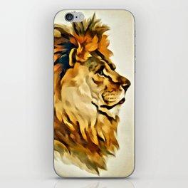 MAJESTIC LION PORTRAIT iPhone Skin
