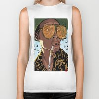 fear and loathing Biker Tanks featuring DEPP: Fear and Loathing in Bat Country by ThatJokerGuy