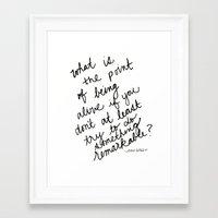 john green Framed Art Prints featuring John Green Remarkable Quote by SWendelsDesign