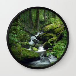 Summer Forest Brook Wall Clock
