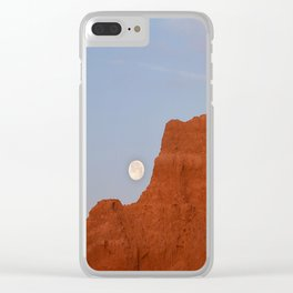 Full Moon Setting Clear iPhone Case