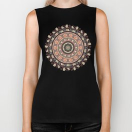 Cat Yoga Medallion Biker Tank