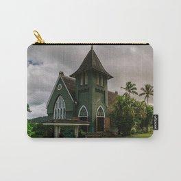 Wai'oli Hui'ia Church Hanalei Kauai Hawaii | Tropical Island Architecture Photography Print Carry-All Pouch