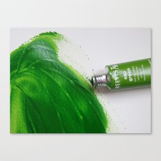 Painting Green #4 Canvas Print