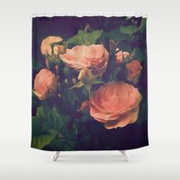 antique Shower Curtains featuring Antique Rose by A Wandering Soul