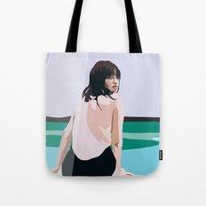 Painted Poolside Tote Bag