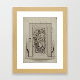 Iron Doorway to Tomb - Thomas Byrne - Vintage Architecture Framed Art Print