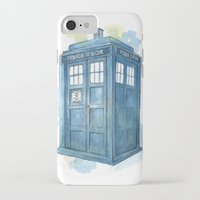dr who iPhone & iPod Cases featuring Dr Who by Iris Illustration
