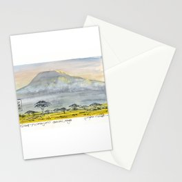 Kilimanjaro at Sunset Stationery Cards