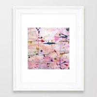 polka Framed Art Prints featuring Polka by SaniQ