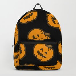 Jack O' Lantern Pattern in orange and black Backpack
