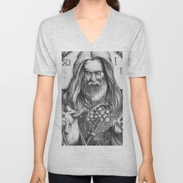 Father Time by Kate Morgan Unisex V-Neck