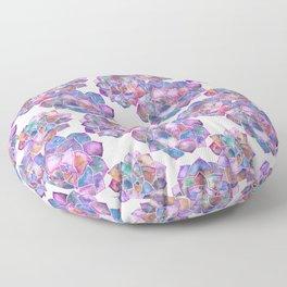Rosette Succulents – Galaxy Palette Floor Pillow