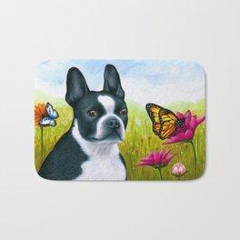 Boston Terrier Dog Bath Mat