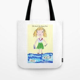 The Beach, My Happy Place Tote Bag