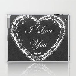I Love You Valentine Chalkboard Laptop & iPad Skin