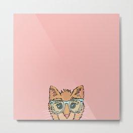 Orange Kitty Cat II Metal Print