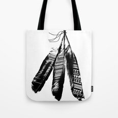 Tribal Feather Trio Tote Bag