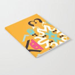 Orange Arabic Notebook