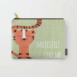 Tiger card - majestic like me Carry-All Pouch