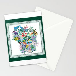 Wisconsin Wildflowers with border Stationery Cards
