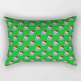 Santa Hippo Rectangular Pillow