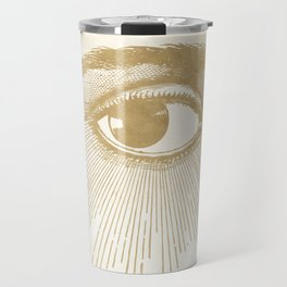 I See You. Vintage Gold Antique Paper Travel Mug