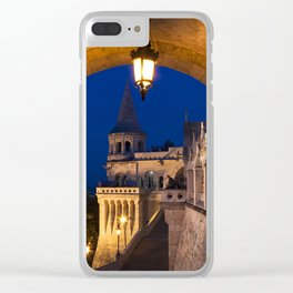 Castle Budapest- blue hour Clear iPhone Case