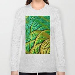 patterns green yellow string Long Sleeve T-shirt