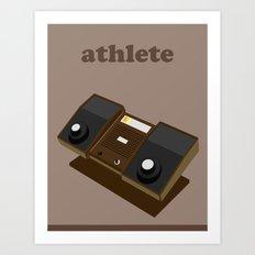 The Athlete Art Print