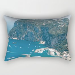 Italy, Capri Landscape View Rectangular Pillow