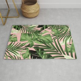 Tropical Jungle Leaves Pattern #11 #tropical #decor #art #society6 Rug
