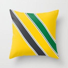 Ayrton Senna Stripes Throw Pillow