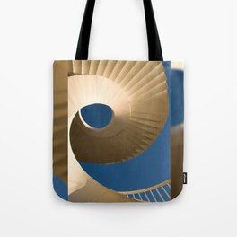 bottom view at twisted stairs Tote Bag