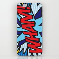 comic book iPhone & iPod Skins featuring Comic Book WHAM! by The Image Zone