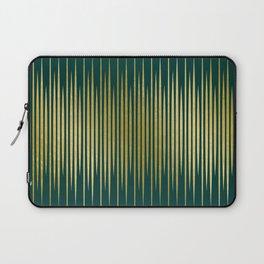 Linear Gold & Emerald Laptop Sleeve