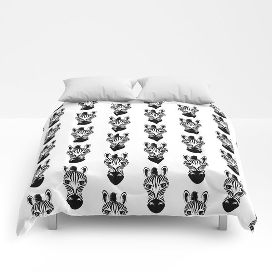 Black and White Zebra Pattern Comforters