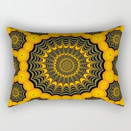 Spider webs, Halloween fractal art Rectangular Pillow