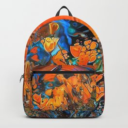 Golden Poppies in the Wind Backpack