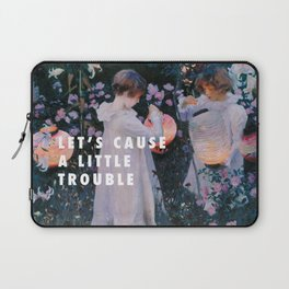 John Singer Sargent, Carnation, Lily, Lily, Rose (c.1885) / Halsey, Trouble (2014) Laptop Sleeve
