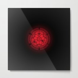 transmutation halftone circle Metal Print